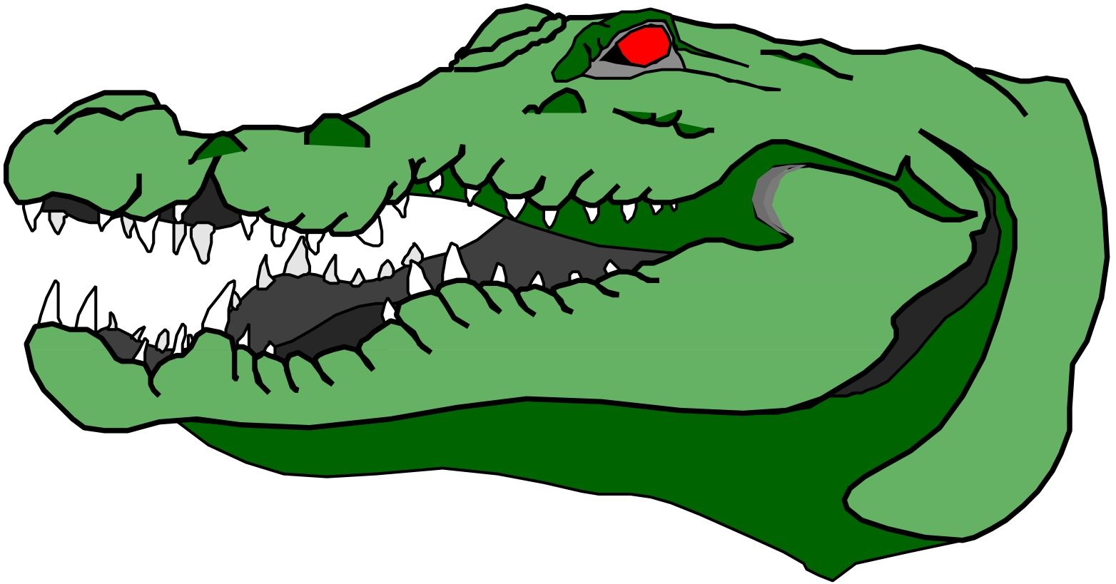 Animated Gator Clipart.