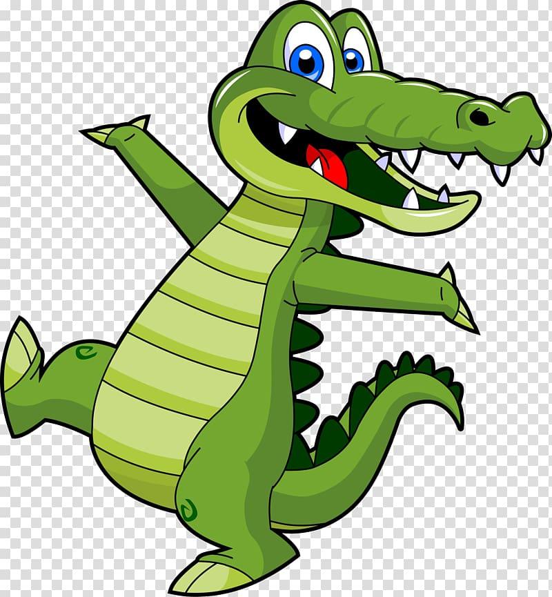 Green crocodile illustration, Crocodile clip , Alligator.