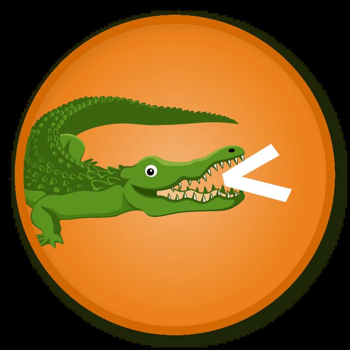 Clipart alligator orange, Clipart alligator orange.