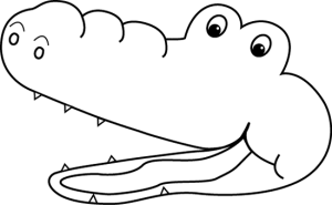 alligator mouth clipart black and white 20 free Cliparts