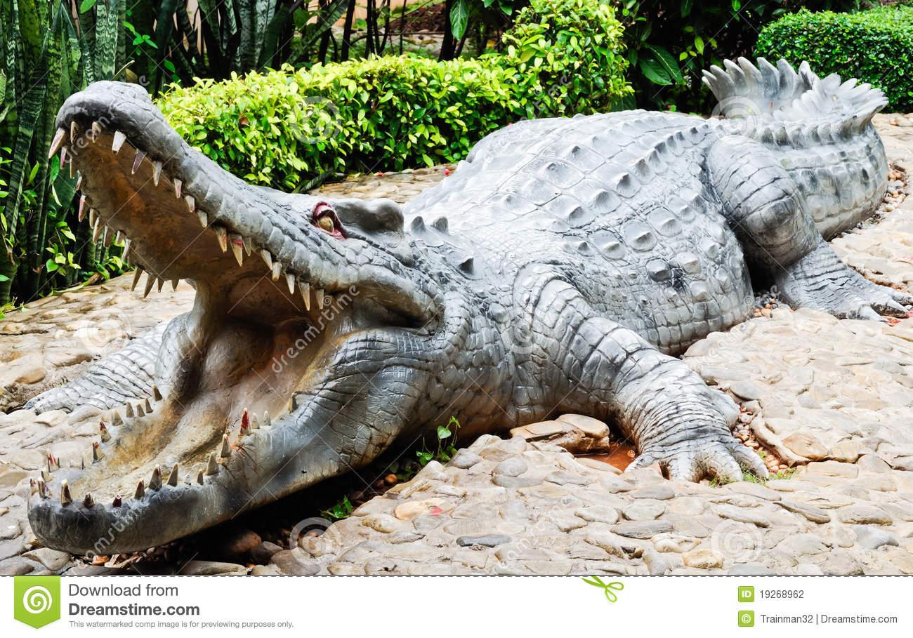 Statue Large Crocodile Stock Photography.