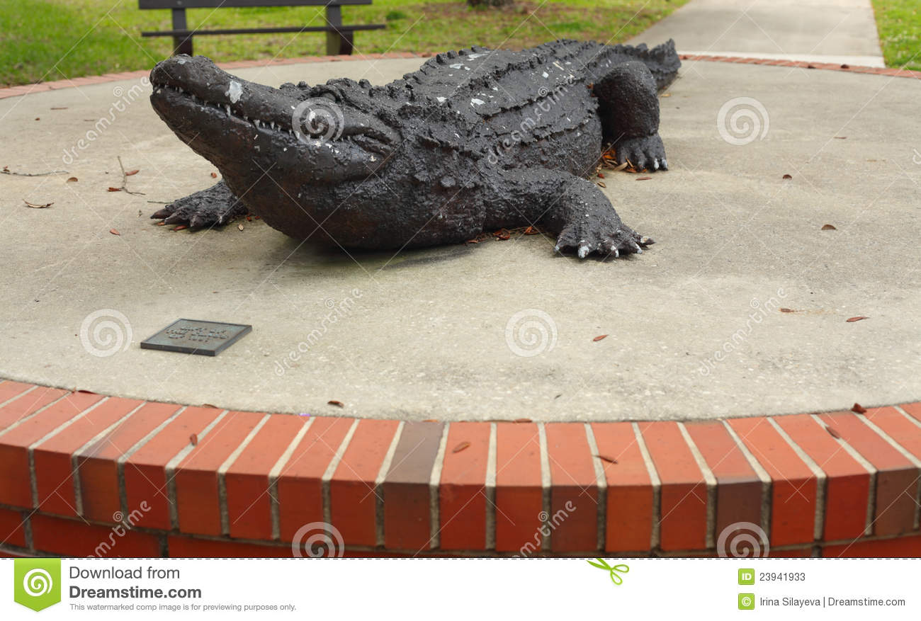 University Of Florida Gator Sculpture Editorial Stock Photo.