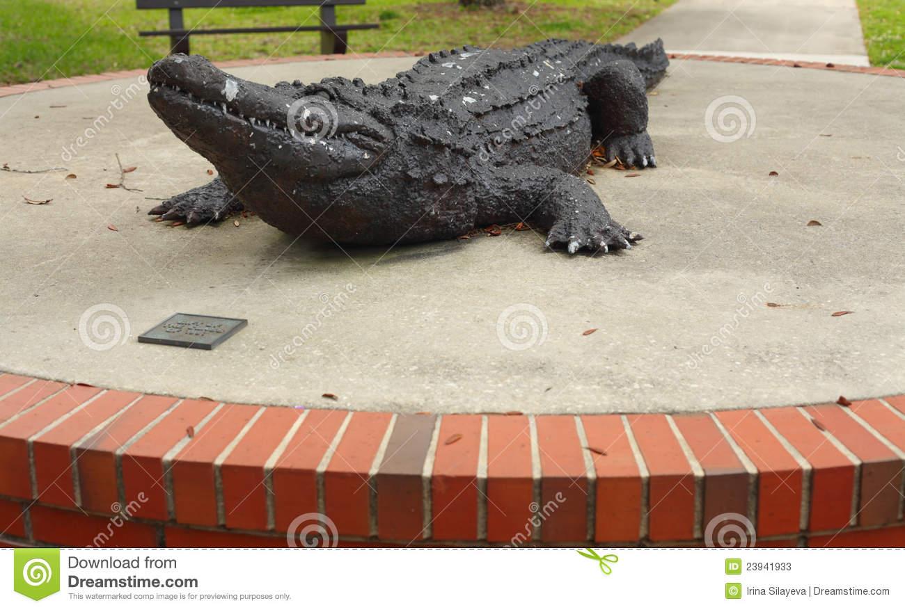 University Of Florida Gator Sculpture Editorial Stock Photo.