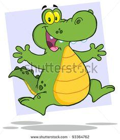 alligator cartoon.