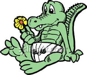 aligator cartoon.