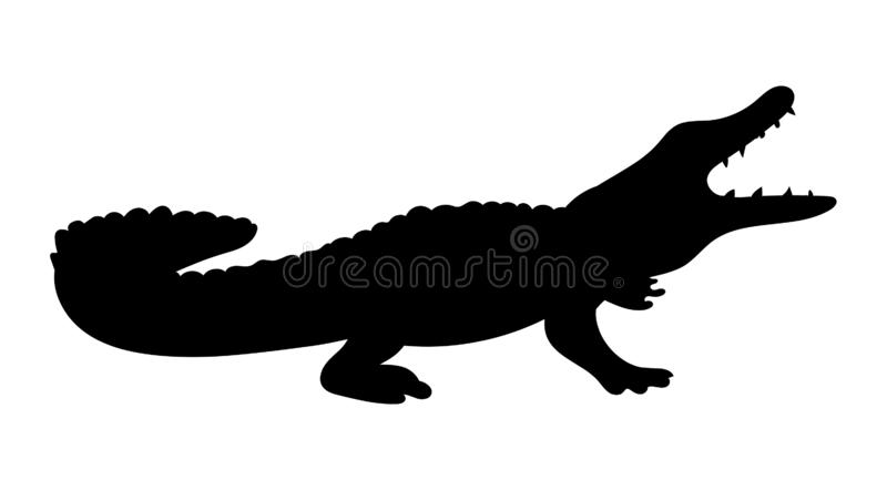 Alligator Silhouette Stock Illustrations.