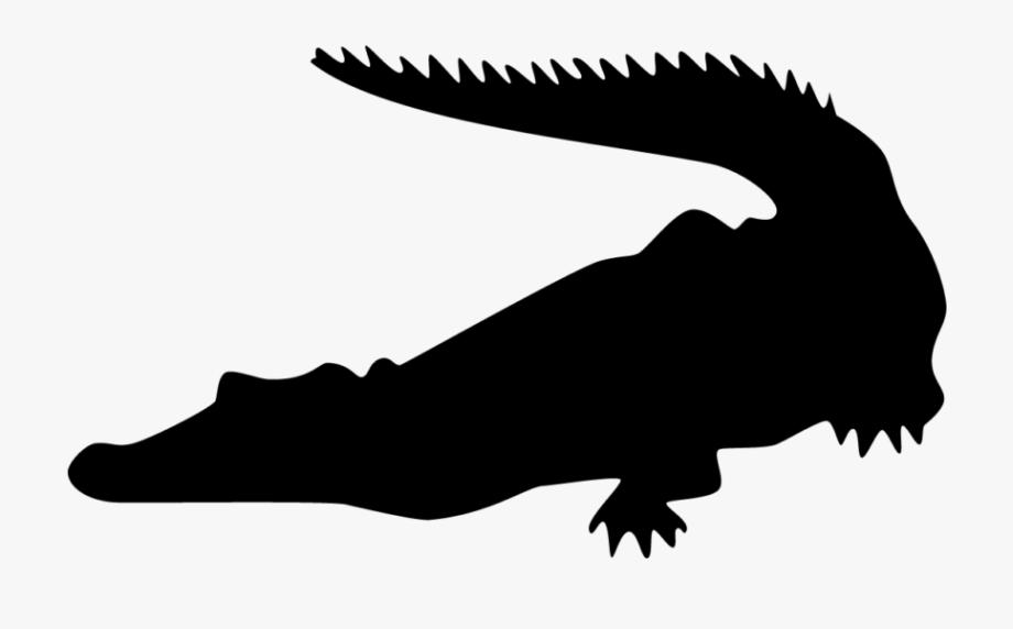 Crocodiles Alligators Silhouette Clip Art.