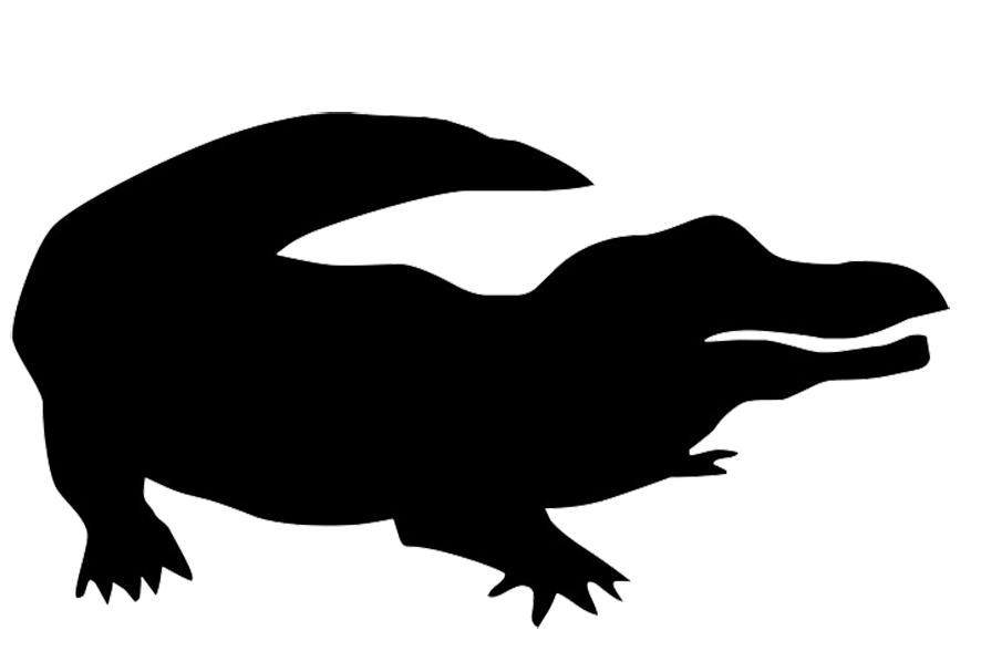 Crocodile American alligator Silhouette Clip art.