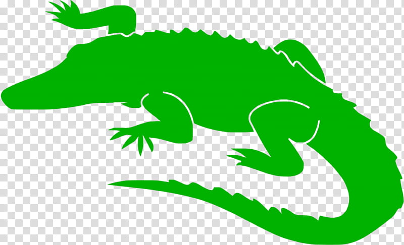 Alligator, Alligators, Crocodile, Silhouette, Stencil.