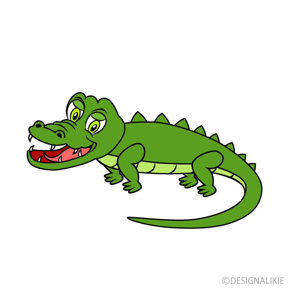 Free Smile Crocodile Clipart Image|Illustoon.