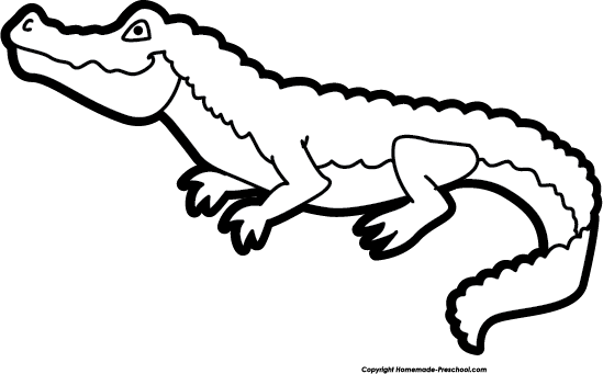 Alligator black and white clipart 1 » Clipart Station.