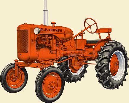 Model B Allis Chalmers tractor.