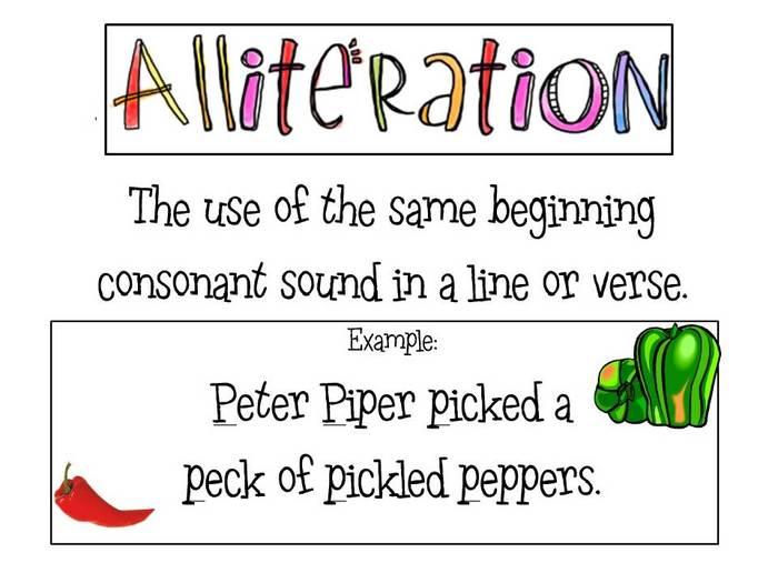 Alliteration, Assonance, Attachment, Capitalization, Graphon.