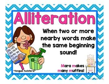 Alliteration Anchor Poster {FREE}.