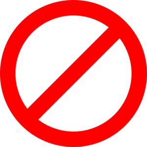 Not Allowed Sign Clipart.