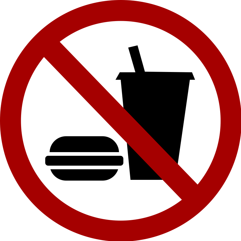 No food allowed clip art.