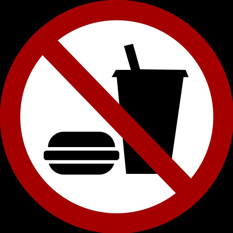 No food allowed clip art.