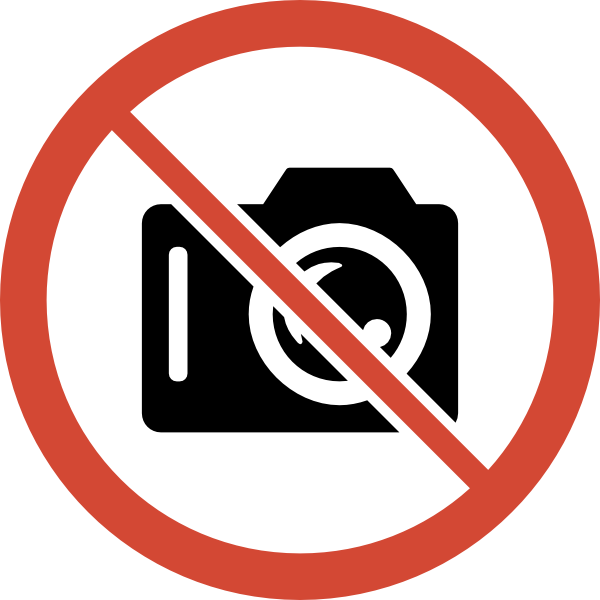 No Photography Allowed Clipart.