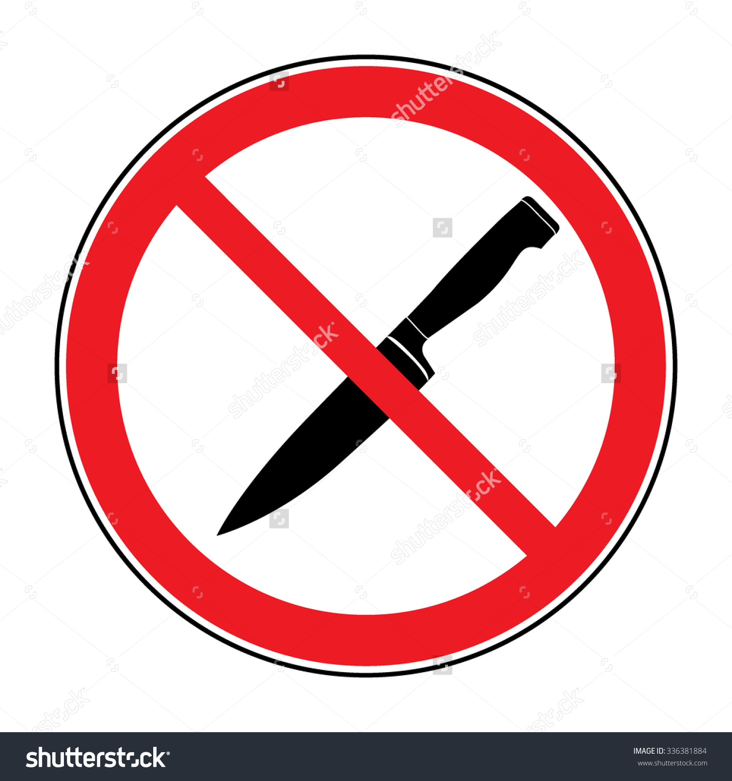 No weapons allowed clip art.