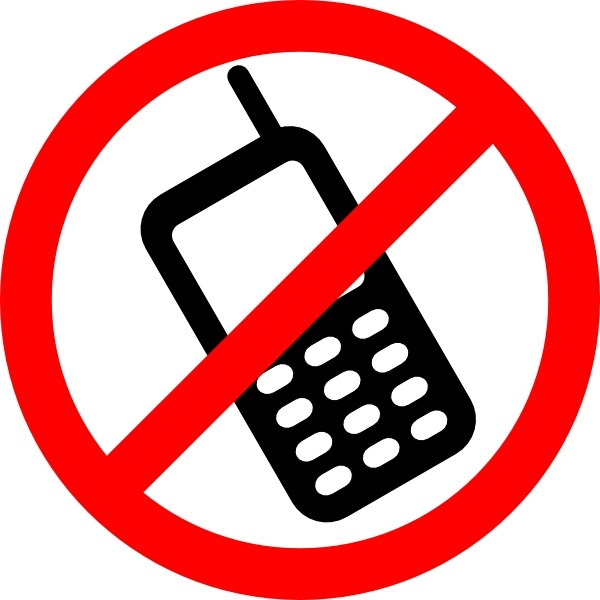 No Cell Phones Allowed clip art Free vector in Open office drawing.