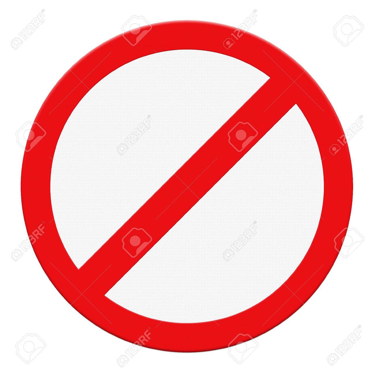 Not allowed clip art.