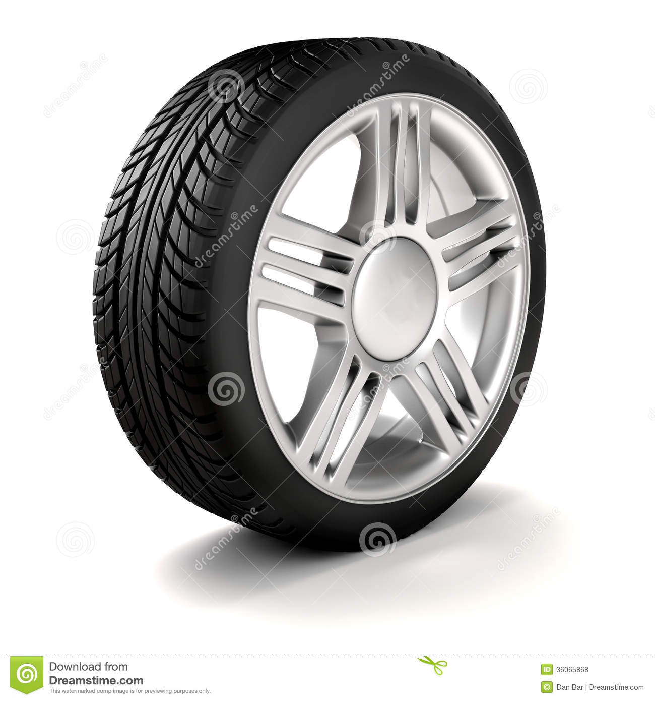 Tire And Alloy Wheel.