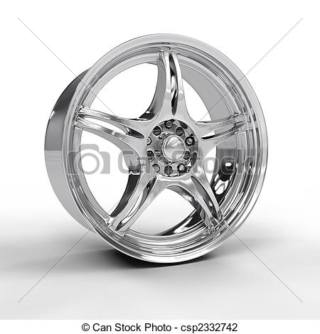 Clip Art of Car alloy rim isolated on white background csp2332742.