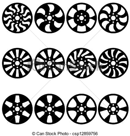 Alloy wheels Clip Art Vector Graphics. 557 Alloy wheels EPS.