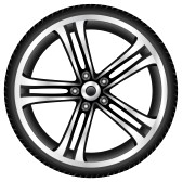 Alloy wheel clipart.