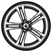 Wheel rims clipart #6