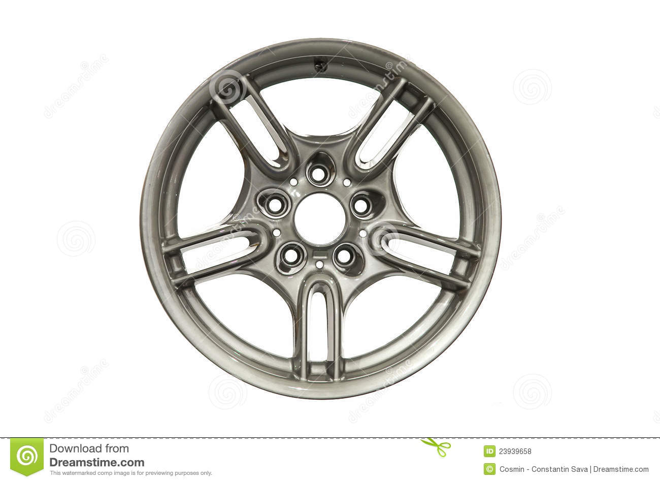 Car Alloy Rim Royalty Free Stock Image.