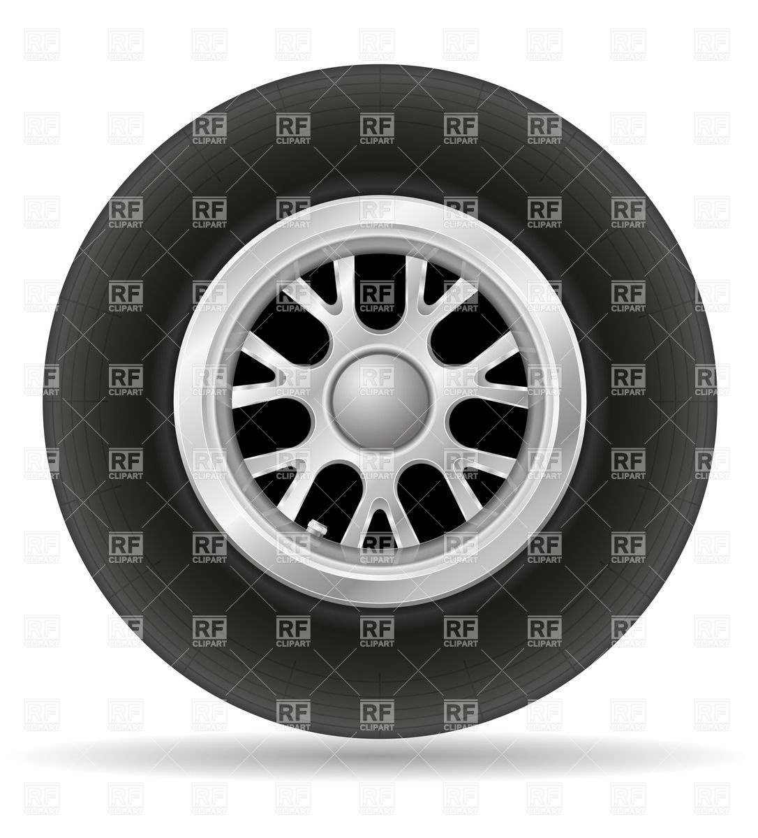 Alloy wheel of racing car Vector Image #38334.