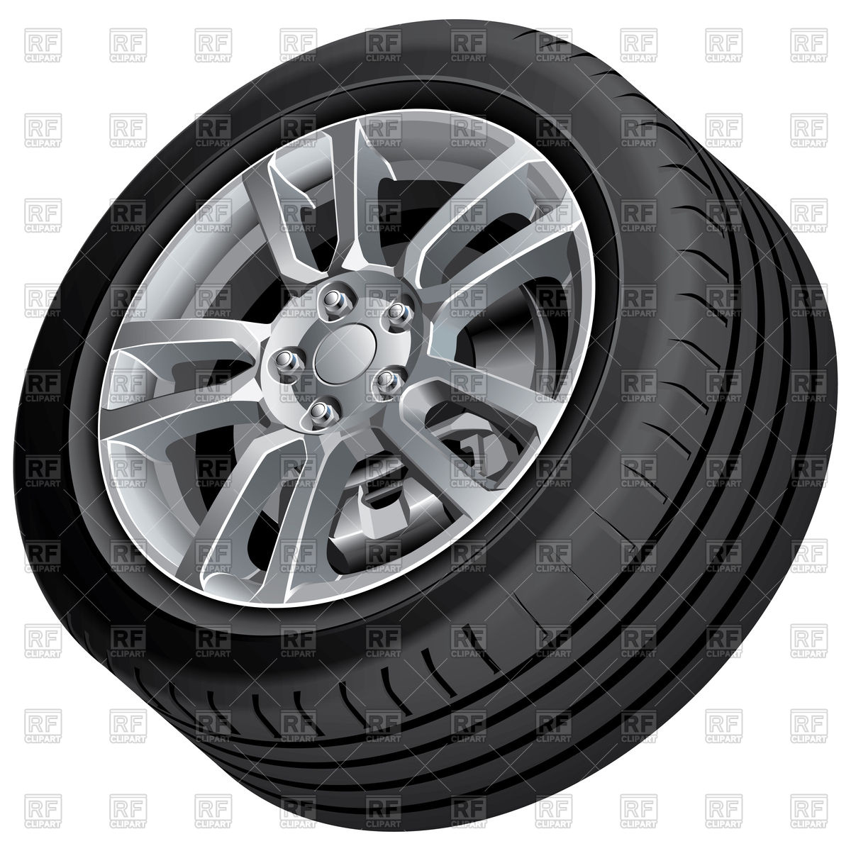 Automobile alloy wheel Vector Image #111179.
