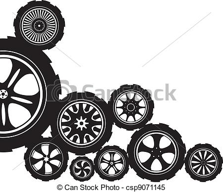 Alloy wheel Clip Art Vector Graphics. 557 Alloy wheel EPS clipart.