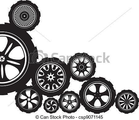 Alloy wheel Clip Art Vector Graphics. 557 Alloy wheel EPS clipart.