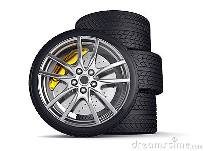 Alloy Wheels For Sports Car Stock Image.