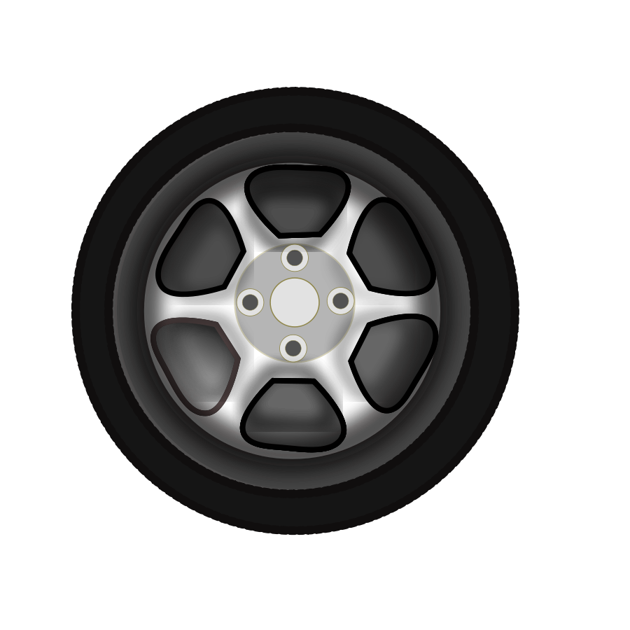 Alloy Wheel Clipart, vector clip art online, royalty free design.