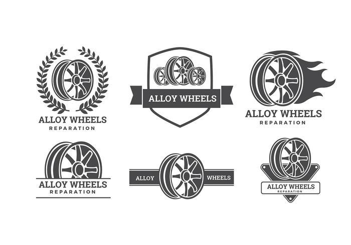 Alloy Wheel Logos Free Vector.
