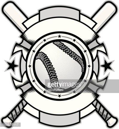Allstar Baseball Background B&w premium clipart.