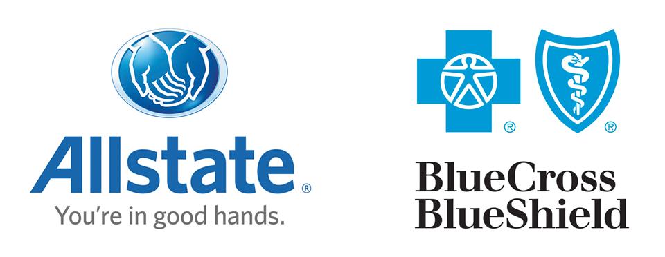 Praise for Allstate, Blue Cross Blue Shield.