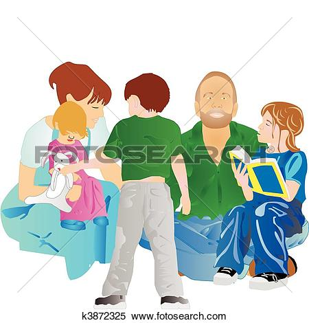 Clipart of Family all together.. k3872325.