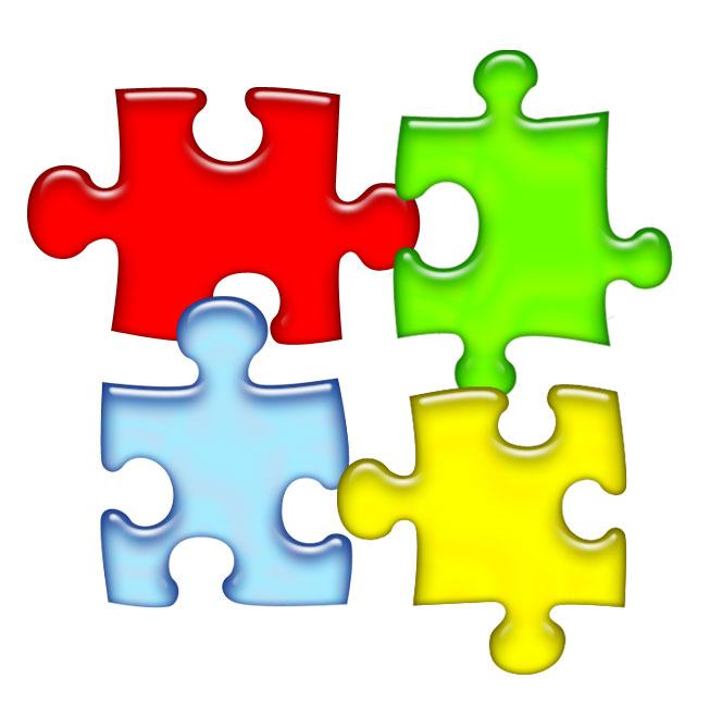 jigsaw puzzle clip art #10