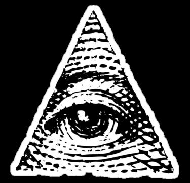 Illuminati triangle clipart no background.
