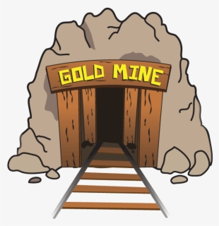 Free Gold Mine Clip Art with No Background.