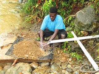 Alluvial gold mining is a big money spinner in PNG.