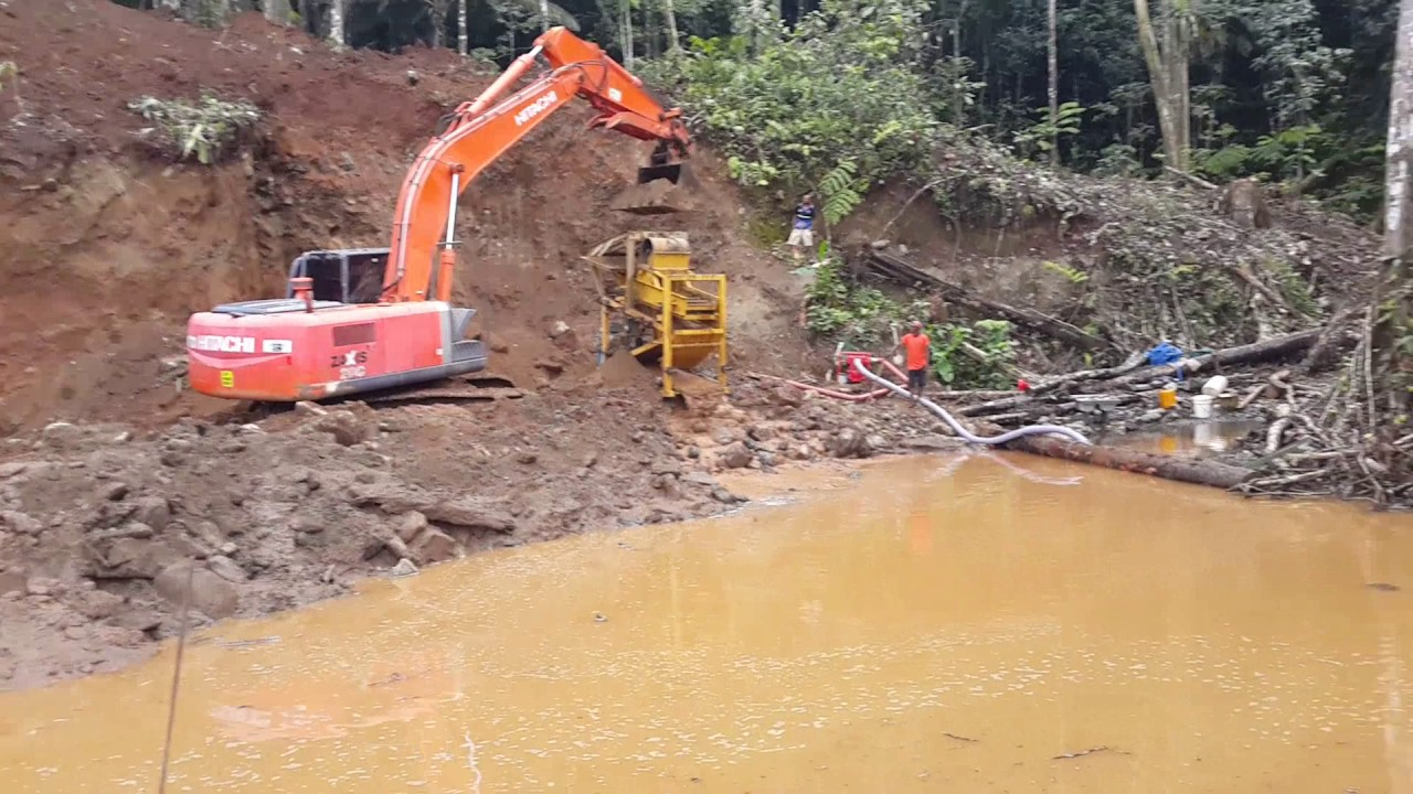 Gold mining in PNG. Gold watch project.