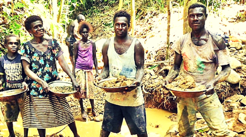 Unregulated alluvial mining in PNG.
