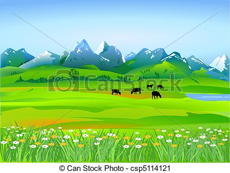 ' meadow clipart #13