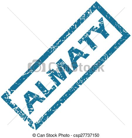 Clipart Vector of Almaty rubber stamp.