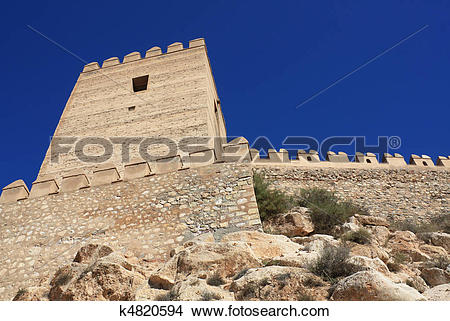 Stock Photo of Alcazaba of Almeria k4820594.